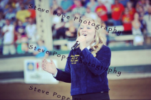 Singing at the Parade of Champions. Photo credit Steve Pope Photography.